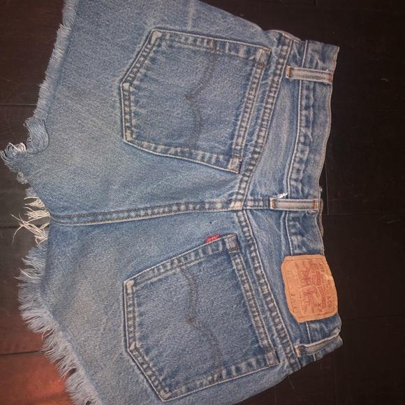 Levi's Pants - Levi Distressed High Waisted Shorts